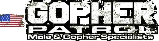 Gopher Patrol Company Logo - A Gopher and Mole extermination company serving the Greater Portland Metro Area